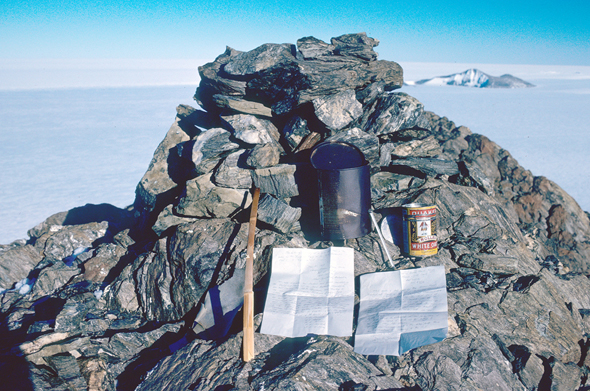 Cairn Supporting Party Mountain Antarctica